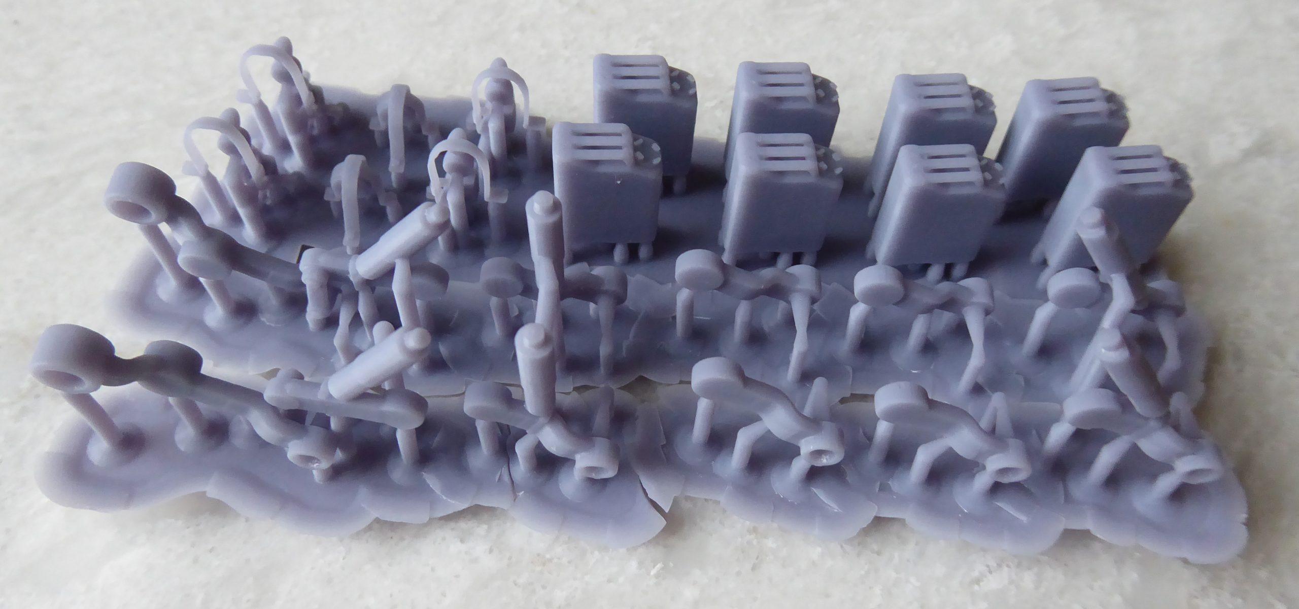 LD-002r printed parts for US Pershing tank