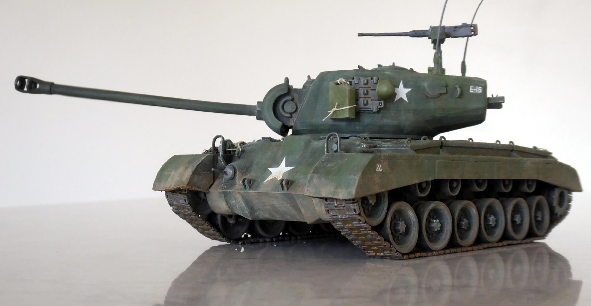 3D printed Pershing tank
